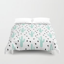 Cactus - modern minimal pattern print triangles geometric trendy hipster coachella festival  Duvet Cover