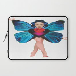 Butterfly Lady / white background Laptop Sleeve