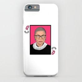 Queen of Dissent iPhone Case