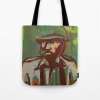 police Tote Bags featuring Police by Steeze Abiola