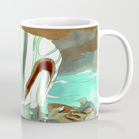 dick Mugs featuring Moby Dick by Mary Slumber