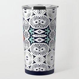 fraternité: artisanal tribal in black & white Travel Mug