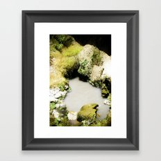 Thermal Pool Framed Art Print