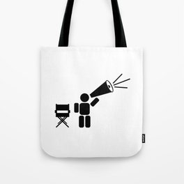 Movie director abstract icon Tote Bag