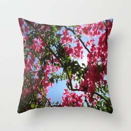 Perfect Pink Bougainvillea In Blossom Throw Pillow