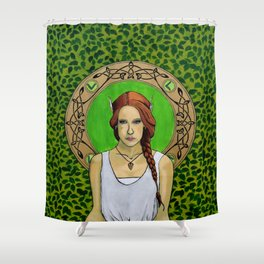 Ljosalfar and the Circle of the Enlightened Shower Curtain