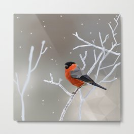 Safe transitions! // (polygonal bull-finch) Metal Print