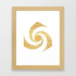 GOLDEN MEAN SACRED GEOMETRIC CIRCLE Framed Art Print