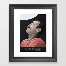 Chris Hadfield - Start Sculpting Framed Art Print