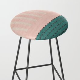 Anthropologie Traditional Moroccan Style Pink Texture (N28) Bar Stool