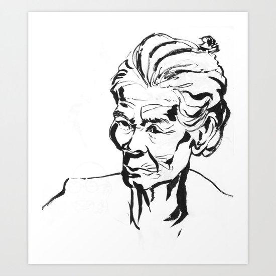 Old women Art Print