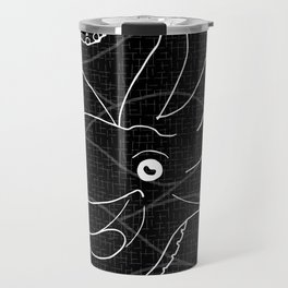 Cephalopods - Black and White Travel Mug