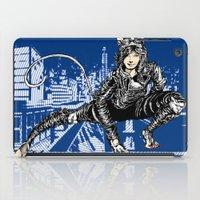 gotham iPad Cases featuring Gotham Catgirl by Chelestino