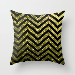 ZigZag Gold Sparkley G190 Throw Pillow