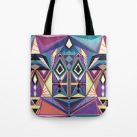 totem Tote Bags featuring Totem by Naia Ceschin