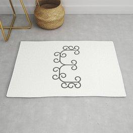 "Letter ""E"" in beautiful design Fashion Modern Style Rug"