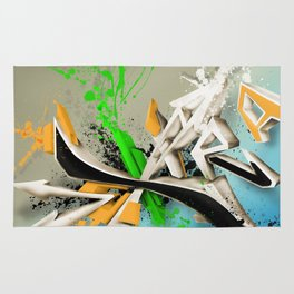 Extra grafitti 3d abstract design Rug