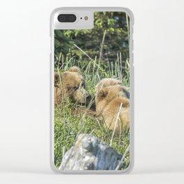 Triplet Bear Cubs Nursing, No. 1 Clear iPhone Case