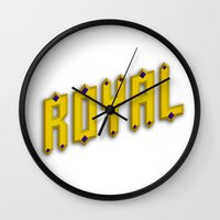 royal Wall Clocks featuring Royal by Tyler Shaffer