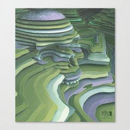Slice of Life (Green) Canvas Print