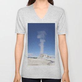 White Dome Eruption Unisex V-Neck