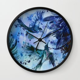 Birds In Flight Abstract Wall Clock