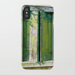 Old green window iPhone Case