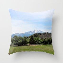Pike's Peak Throw Pillow