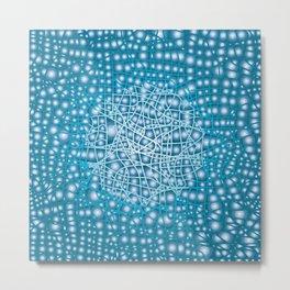 Blue Liquid Background Metal Print