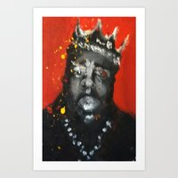 biggie smalls Art Prints featuring Biggie Smalls by Larry Caveney
