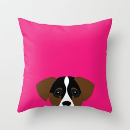 jack russell I love you  Throw Pillow