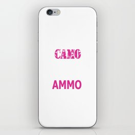 Wearing Camo and Rocking Ammo Graphic T-shirt iPhone Skin