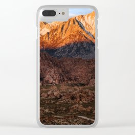 Mount Whitney & Alabama Hills, California Clear iPhone Case