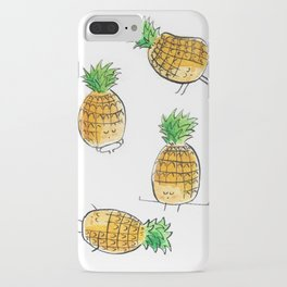 Pineapples doing yoga iPhone Case