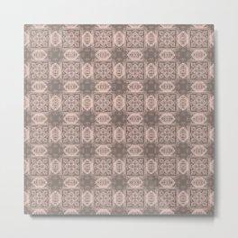 Pale Dogwood Geometric Floral Metal Print