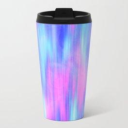 Aurora - Blur Abstract in Pink, Purple, Aqua & Royal Blue Travel Mug