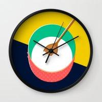 baking Wall Clocks featuring Baking Bowl by Sam Osborne