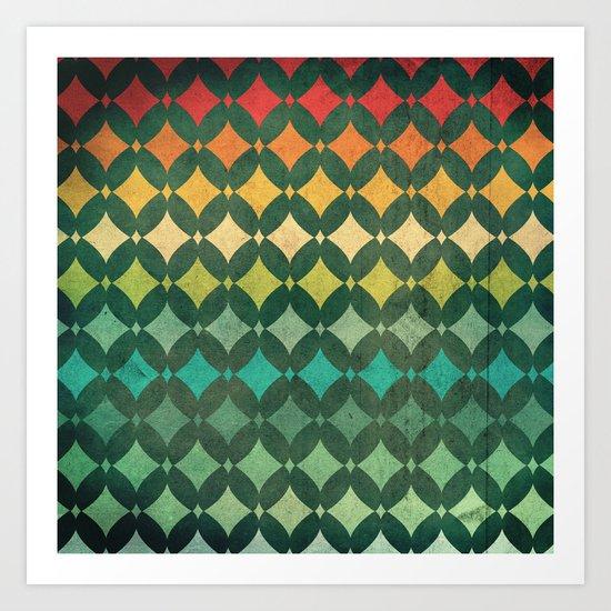 Vintage Rainbow Pattern Art Print