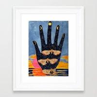 moth Framed Art Prints featuring Moth by Dawn Patel Art