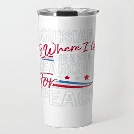 Louisiana American Patriotic Memorial Day Travel Mug