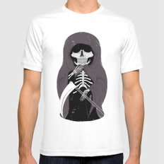 Death White MEDIUM Mens Fitted Tee