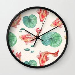 Japanese Golden Fish Wall Clock