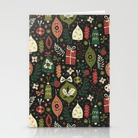 Stationery Cards featuring Holiday Ornaments  by Anna Deegan