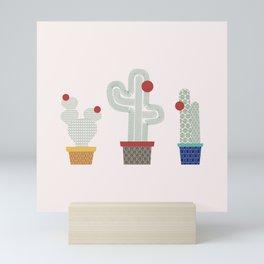 We are 3 cactus! Mini Art Print