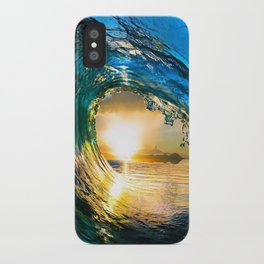 Glowing Wave iPhone Case