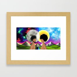 stars appart Framed Art Print