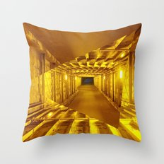 Gold way Throw Pillow
