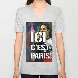 Ici c'est Paris! colors urban fashion culture Jacob's 1968 Paris Agency for Cavani psg supporters Unisex V-Neck