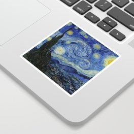 Starry Night by Vincent van Gogh Sticker
