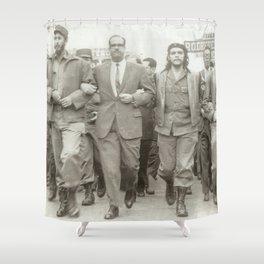 Che Guevara, Fidel Castro and Revolutionaries Shower Curtain